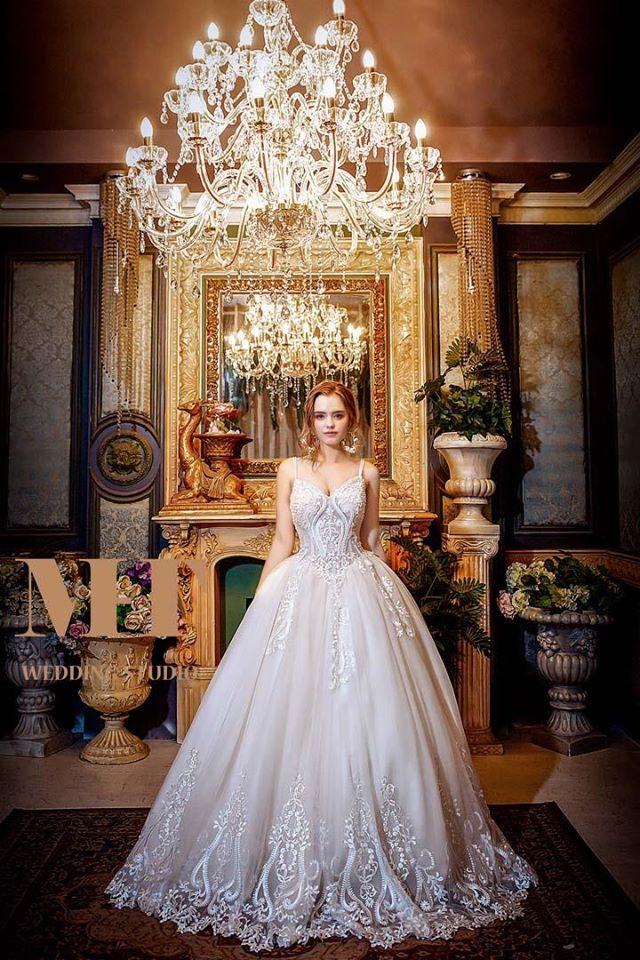 曼哈頓婚紗,精緻手工蕾絲白紗,婚紗攝影